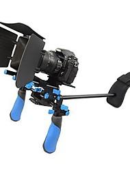 DSLR Rig Set Movie Kit Shoulder Mount Rig with Matte Box for All DSLR Cameras and Video Camcorders