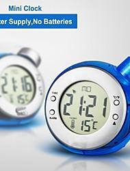 Стильный цифровой дисплей LCD воды питание будильник гидро питание часы + показатель температуры (синий)