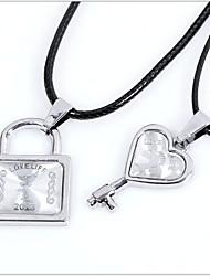 coração liga de moda coreano para o casal pingente de coração (um par de venda)