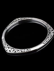 Bracelet Manchettes Bracelets Alliage Acier au titane Mariage Soirée Regalos de Navidad Bijoux Cadeau Argent,1pc