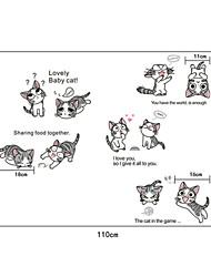 Lovely Chi's Sweet Home Cats PVC Wall Stickers