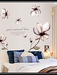 fleur romantique sticker mural PVC amovible environnement