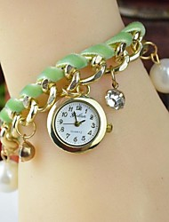 Handcee® Simple Design Women PU Watch Fashion Decoration Lady Bracelet Watch