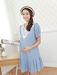Vestido de maternidade ( Algodão ) Casual/Fofinho - Acima do Joelho