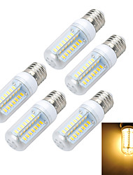 Marsing 5pcs E27 10W 1000LM 6500K/3000K Cross Board 56-5730 SMD Warm/Cool White Light LED Corn Bulb (AC 220~240V)