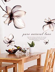 fleurs Stickers muraux Stickers muraux fantastiques disposent PVC amovible et lavable