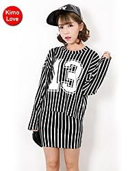 kimolove ™ manga larga vestido de dos piezas de impresión ocasional de la mujer