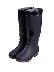 Women's Shoes Rubber Chunky Heel Platform/Rain Boots/Round Toe Boots Casual Black