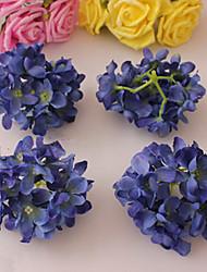 Eight Dark Blue Hyfrangeas Decorative Wedding Flowers