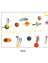 Cartoon Outer Space PVC Wall Stickers