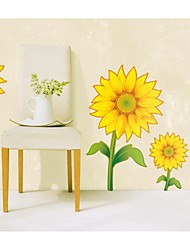 Wall Stickers Wall Decals, Style Sunflowers PVC Wall Stickers