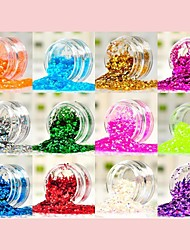 12 Color Fashion Sequin Nall Art  Decoration Kits