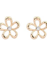 Women's Clearance Rhinestone Openwork Alloy Floral Stud Earrings