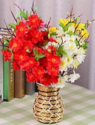 """16.1 """"l conjunto de um naturais 9 membros flores de pêssego de pano de seda flores"""