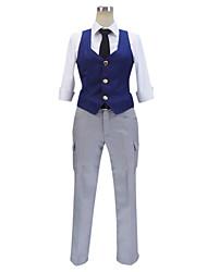 Inspiriert von Assassination Klassenzimmer Cosplay Anime Cosplay Kostüme Cosplay Kostüme Patchwork Blau HalbärmelWeste / Shirt / Hosen /
