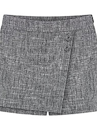 de la mujer casual / Tallas grandes inelásticas pantalones cortos medianas (gasa)