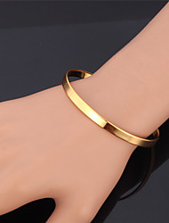 U7® Simple Design Vintage Bangles For Women Or Men 18K Real Gold Plated Cool Fashion Jewelry Bracelets