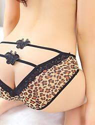 panty atractivo del cordón del leopardo de las mujeres