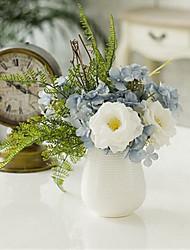 hibiscus pouco subiu flores artificiais com vaso
