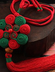 Ethnic Style Chinese Knot Manual Cloth Art Car Pendant Blessing Of Peace