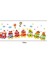 Cartoon Candy Train PVC Wall Stickers