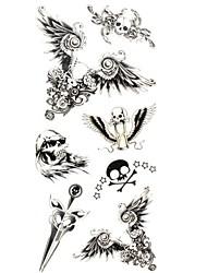 1 Tatouages Autocollants Autres Motif Bas du Dos ImperméableHomme Femme Adulte Adolescent Tatouage Temporaire Tatouages temporaires
