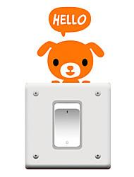 Switch Wall Stickers Wall Decals, Cartoon Dog PVC Switch Sticker