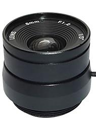 """F1.2 1/3 """"lente de íris fixa ir 16 milímetros de circuito fechado de televisão CCTV lente para câmera de vídeo CCTV de vigilância de segurança"""