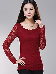 ICED™ Women's Round Collar Fashion Lace Slim Shirt(More  Colors)