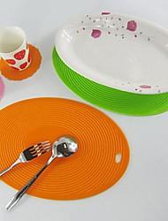 forma oval mat pote silicone, lugar montanha-cozimento, cor aleatória