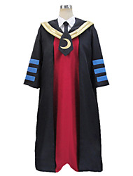 Inspired by Assassination Classroom Korosensei Anime Cosplay Costumes Cosplay Suits Patchwork Red Long Sleeve Coat / Shirt / Mask / Tie