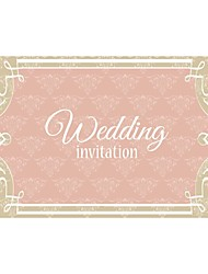 Personalized 200pcs/Lot Wholesale Wedding Invitations Elegant Laser Pink Lovely Save The Date Paper Card