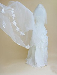 Wedding Veil Two-tier Cathedral Lace Veils Cut Edge