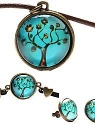 Fashion Peace Tree Shape(Includes Necklace&Earrings&Bracelet)Jewelry Set
