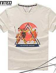 grande taille marque de mode manches courtes T-shirt des hommes avec des soldats archaïques impression de hauteur&grands T-shirts de taille
