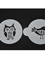 Birds Coffee Stencils Cookie Decorating Tools ST-644
