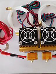xc3d fabricant MK9 à double tête de tous extrudeuse métallique avec câble pour imprimante 3d 1.75mm filament