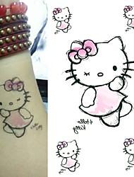 Cute Cartoon Cat Tattoo Stickers Temporary Tattoos(1 Pc)