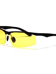 gafas de sol de conducción rectángulo de los hombres polarizados