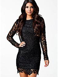 Ivan Fashion Chiffon Lace Backless Dress