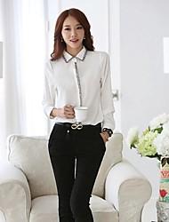 Women's Doll Collar Long Sleeve Chiffon Blouse