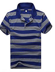 Carol Men's Stripes Short Sleeve OL POLO Shirt T-shirt
