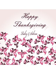 Personalized Yellow Red Pink Flower Happy Thanks Giving card Paper Card