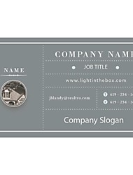 Personalized Business Cards 200 PCS Classic Gray Pattern 2 Sided Printing of Fine Art Filmed Paper