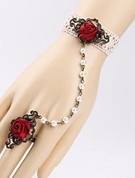Buquê de Pulso ( Vermelho , Renda ) - de Rosas
