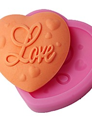 FOUR-C Cake Mold Love Heart Decor Silicone Mould Color Pink