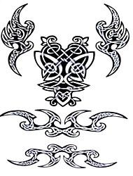Yimei - Tatuajes Adhesivos - Waterproof - Otros - Mujer/Girl/Hombre/Adulto/Boy/Juventud - Negro - Papel - 5 - 20.5cm*10.5cm