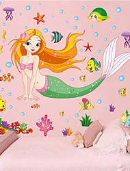 Removable Pretty Sea-maid Shaped Children's Room Wall Sticker