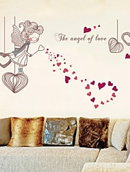 Wall Stickers Wall Decals, Love Angel Girl PVC Wall Stickers