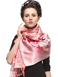 Zizhen ocasional lenço de seda das mulheres